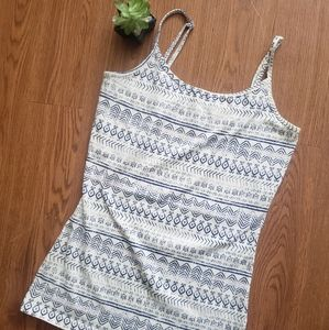 Nollie white and blue tank top. Size Medium